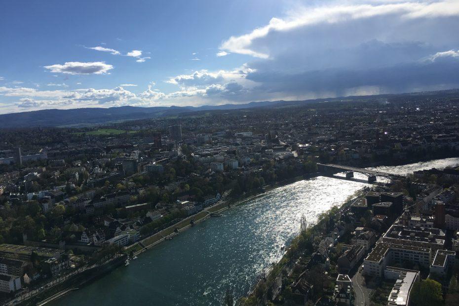Basel Rhine river view